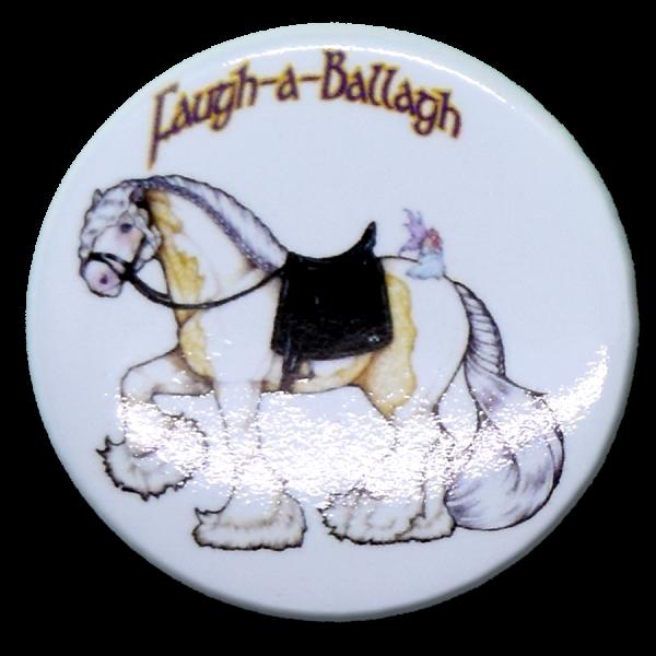 Faugh-a-Ballagh with Strawberry button